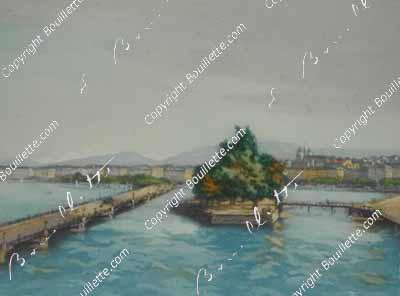 Genève et l'île Rousseau, GE
