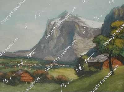 Grindelwald et le Wetterhorn, BE