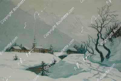 Argentière en hiver
