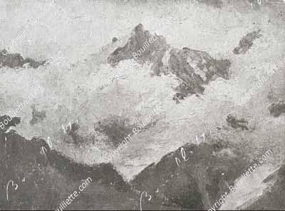 nuages sur la chaîne du Mont Blanc