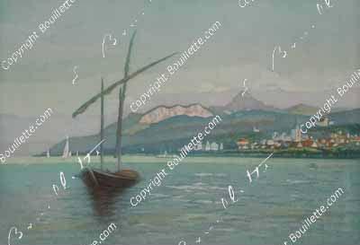Barque à Evian