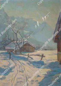 skieur dans la plaine des Praz