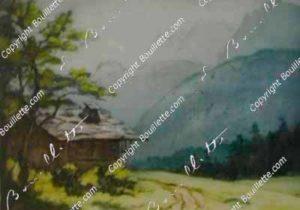 les aiguilles de Chamonix, le Dru et la Verte